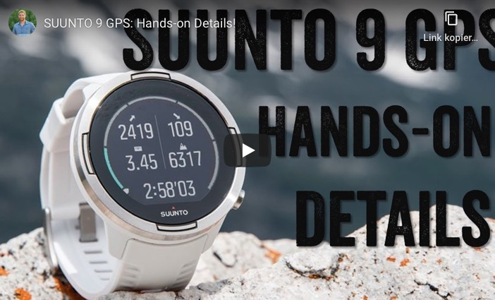 Video zur Suunto 9 GPS Triathlonuhr